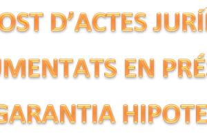 DESPESES DE FORMALITZACIÓ DE LA HIPOTECA